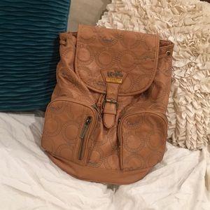 COACH Tan Designer Backpack